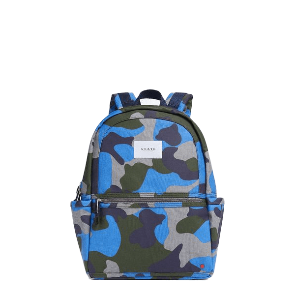 image of camo backpack from State Bags