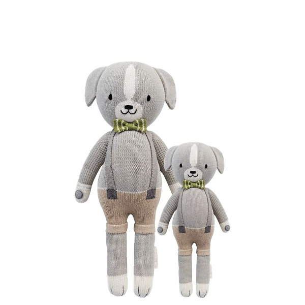 image of knit dog dolls from Cuddle + Kind