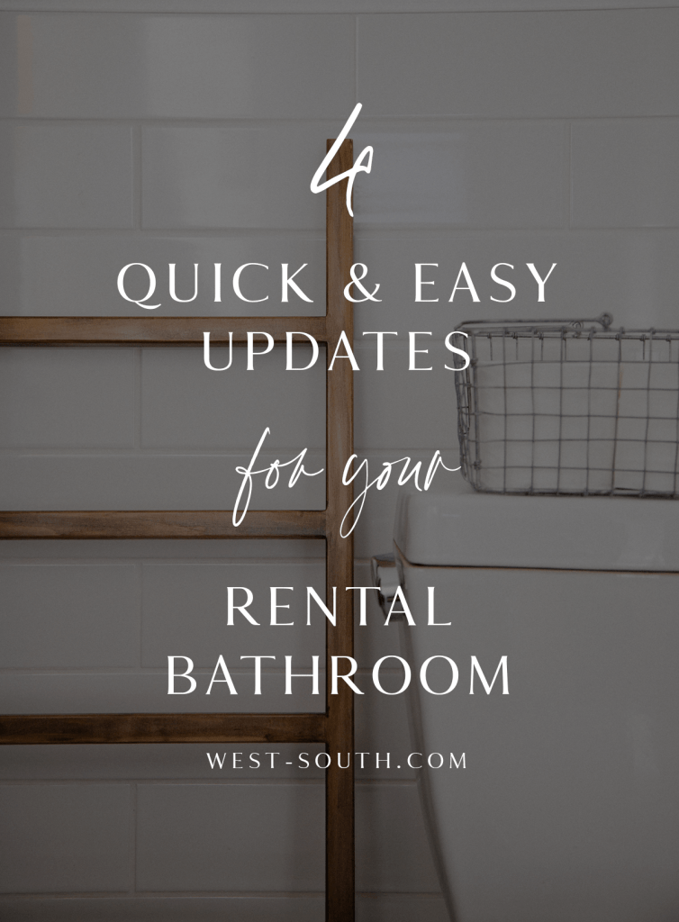 pin image 4 quick and easy updates for your rental bathroom