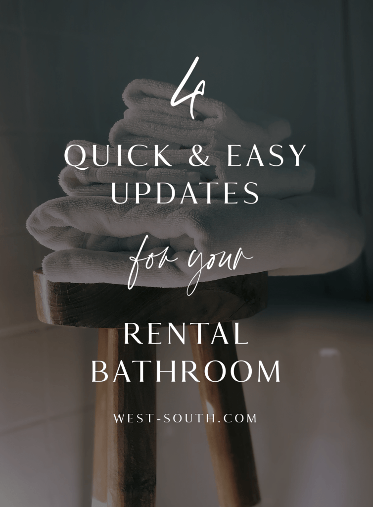 pin image 2 4 quick and easy updates for your rental bathroom