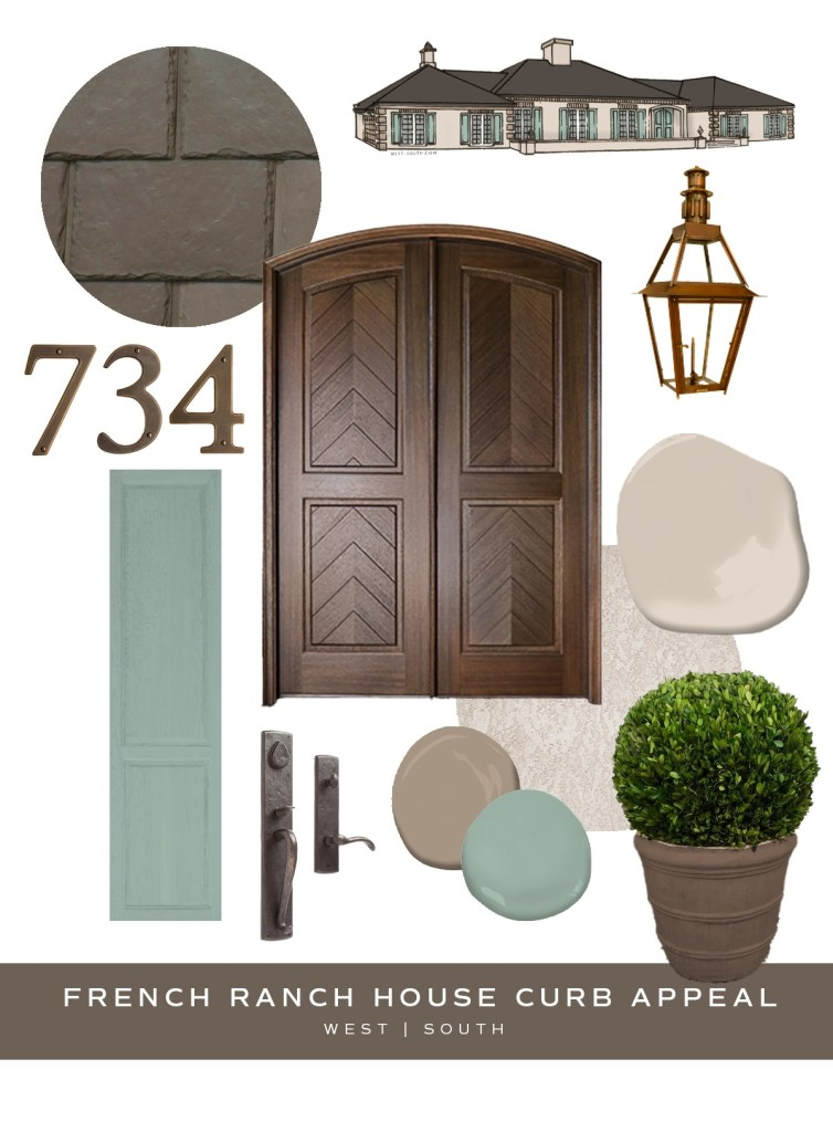 image showing curb appeal ideas for a french style ranch house