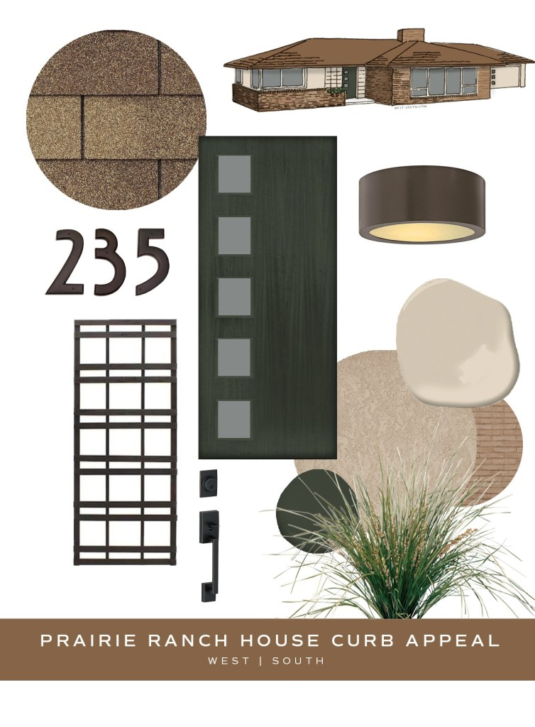 image showing curb appeal ideas for a prairie style ranch house