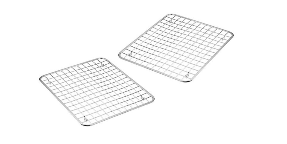 image of square aluminum wire racks