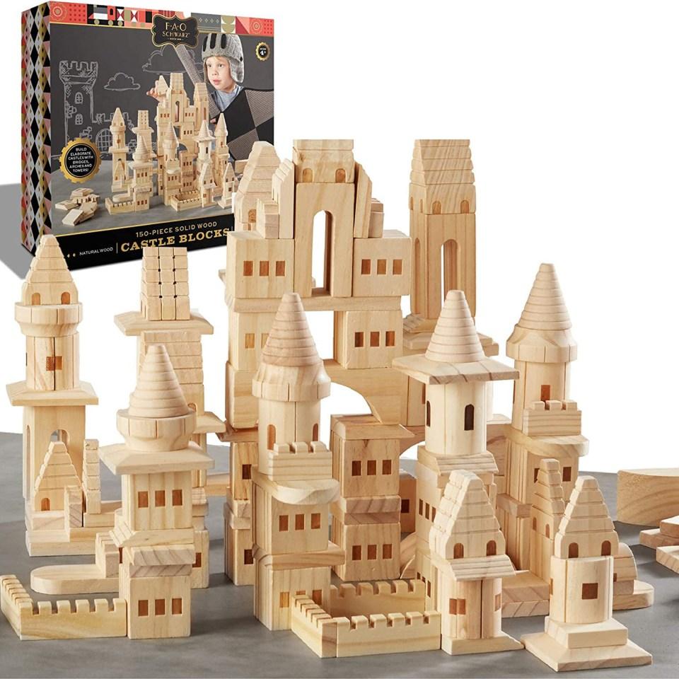 wood blocks that make a castle
