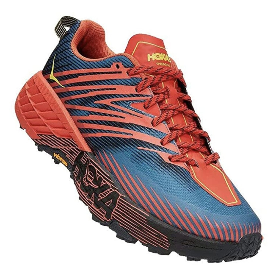 Red Hoka One One Running Shoes