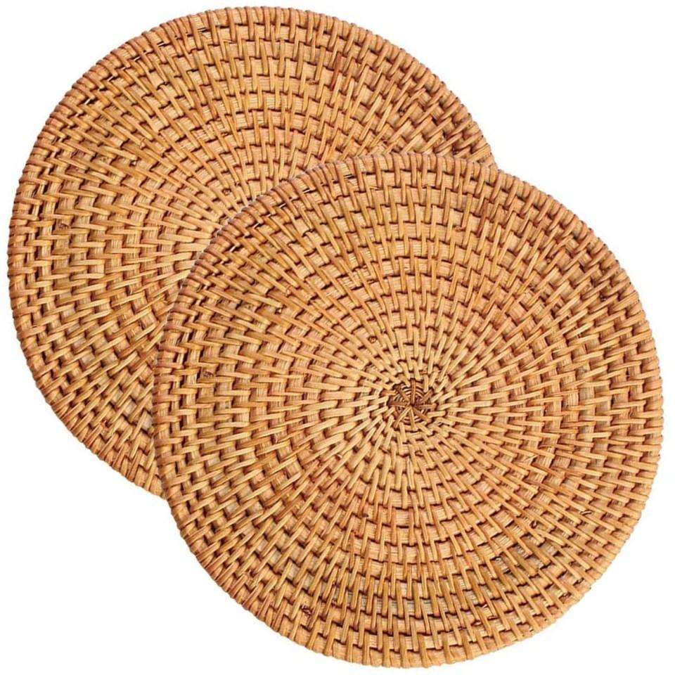 woven rattan place mats