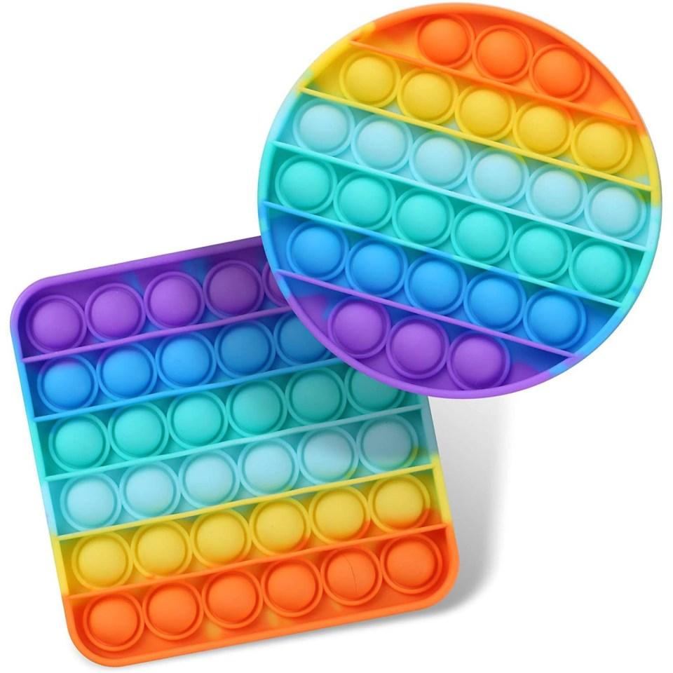 Pop Fidget Sensory Toy Rainbow Silicone