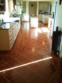 Terracotta Floor in the Kitchen