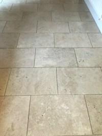 Restoring Travertine Kitchen Tiles in East Byfleet | Tile ...