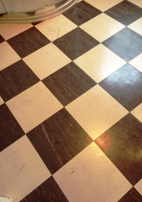 Vinyl Kitchen and Bathroom Floor After Deep Cleaning Worcester Park