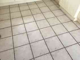 Ceramic Tile Grout Before Cleaning Leatherhead Kitchen