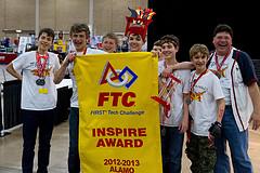 2013 FTC Alamo Regional Inspire Award Winner FIRST Team 3781, The Pi-Rho Maniacs
