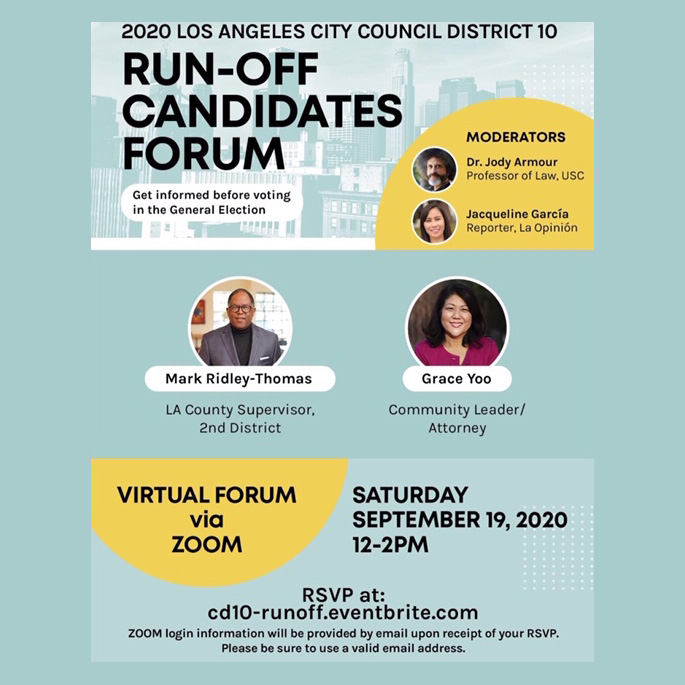 run-off candidate forums Los Angeles
