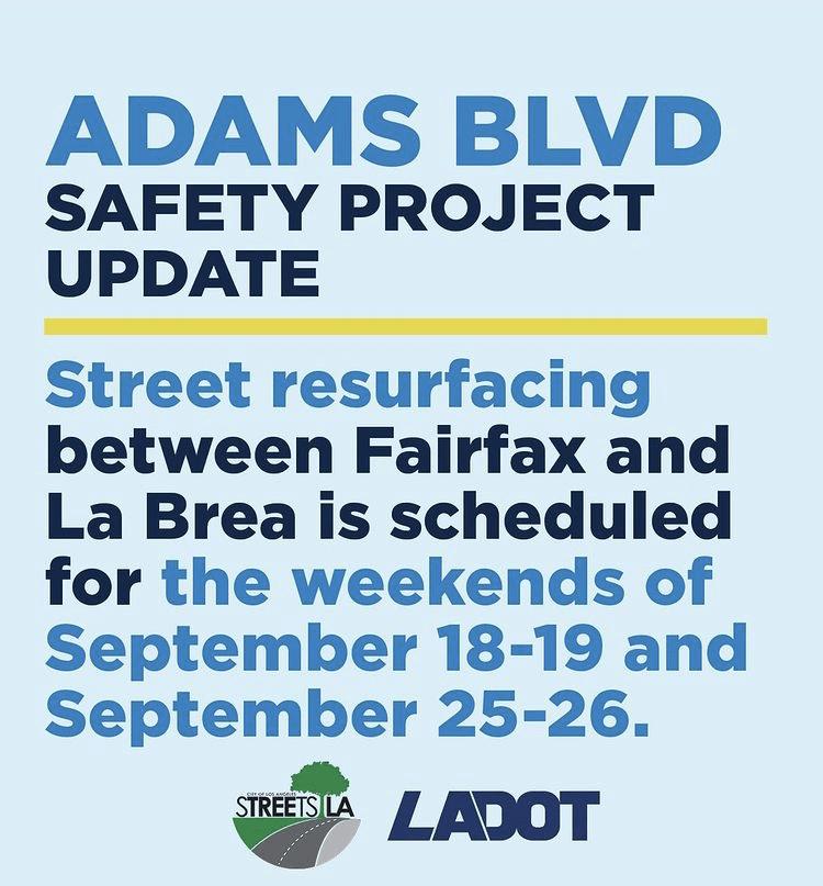 Adams Blvd resurfacing