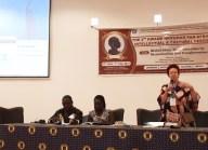 Samuel Aniegye Ntewusu (University of Ghana, Legon), Mary Owusu (University of Cape Coast) Bea Lundt (Free University of Berlin) l Foto: Nina Paarmann