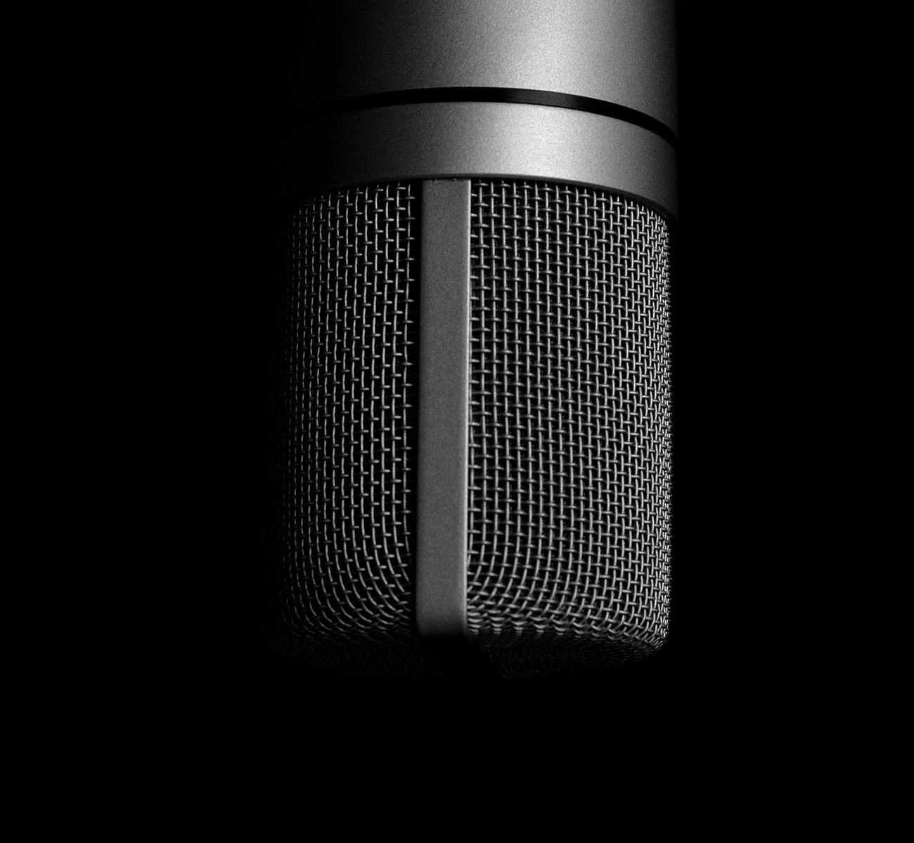 aluminum audio chrome close up
