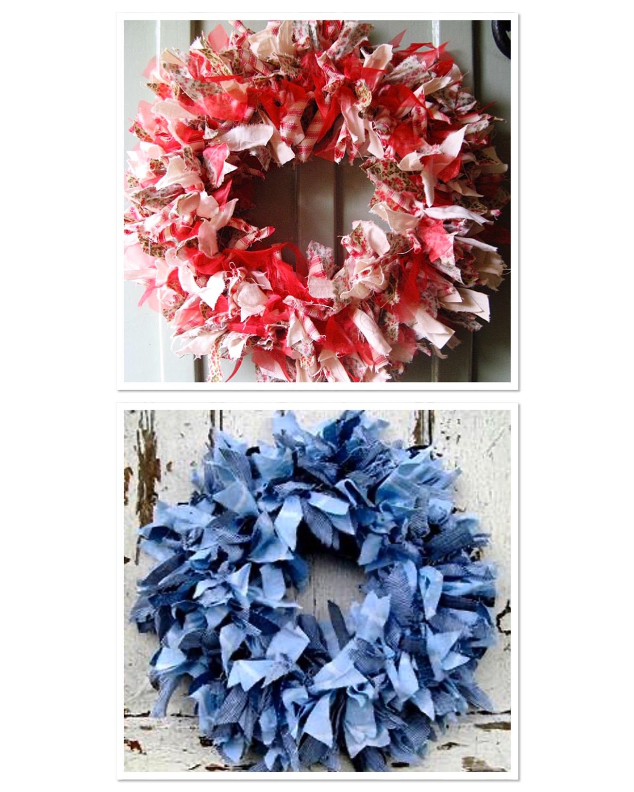 fabric-wreath
