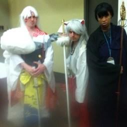 Sesshomaru, Inuyasha, and Miroku