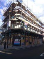 Prince of Wales with Scaffolding being removed - July 14th 2016