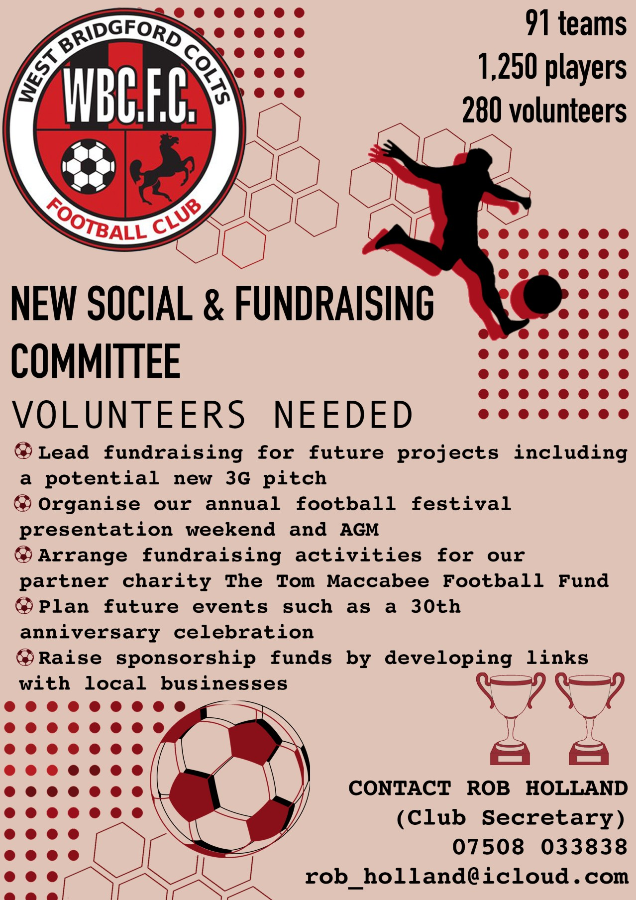 Soc & Fundraising commitee advert