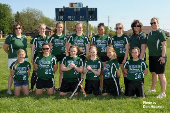 Photo by Dan Hockett WBND 7th Grade Softball Front row (l-r): Manager Christina Hunter, Sydney Huddleston, Katelin Miller, Haley Rogers, Kiera Brown, Lydia Vance. Back row (l-r): Asst. Coach Angie Prottsman, Katie Connor, Jerri Price, Mackenzie Petty, Savannah Swanson, Ariella Zang, Asst. Coachj Tammy Allison, Coach Laura Mickey.