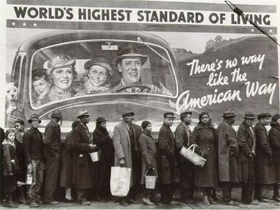 great depression soup line