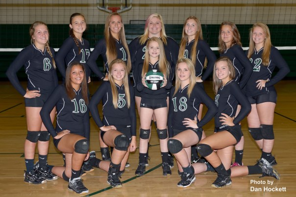 Photo by Dan Hockett Front: Chloe Baker, Kamaryn Atwater, McKenzie Fry, Jerri Price, Kinnady Atwater. Back: Shayleigh Abbott, Delaney Williams, Aubrey Schmitt, Shaelyn Thomann, Regan Jones, Adriana Moad, Bailey Jennings.