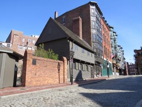 A rare sight: an empty street in Boston, Massachusetts, USA