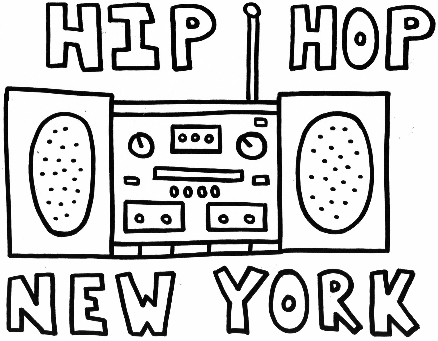 Radio Coloring Pages