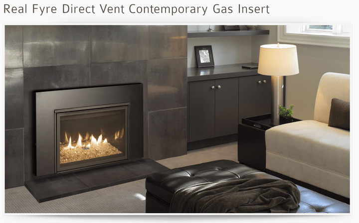 Gas Heating Fireplace Insert