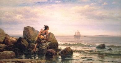 Edward Moran's (1829–1901) Henrik Hudson Entering New York Harbor, September 11, 1609; painted in 1892