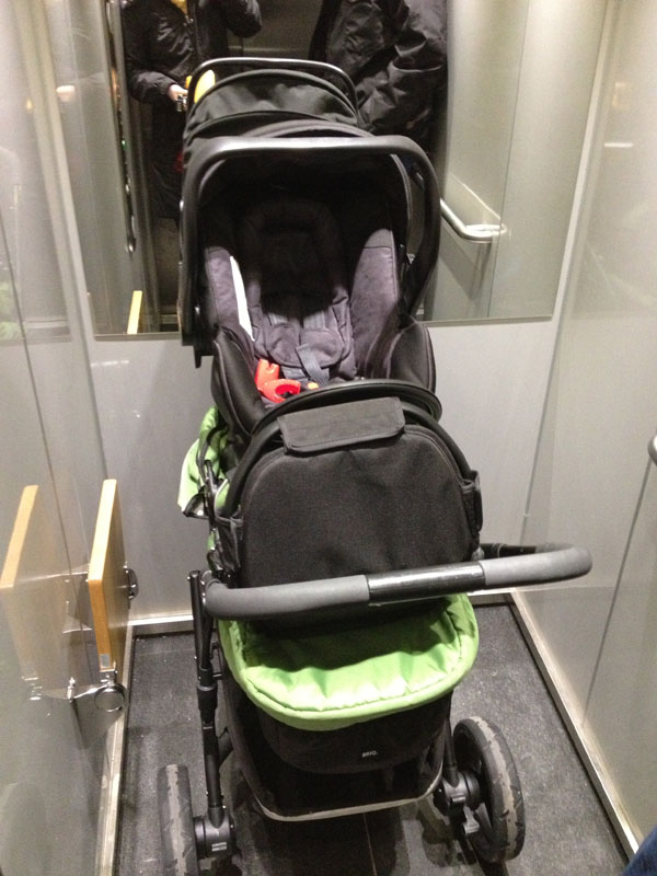 first time bringing the stroller home - felt awkward