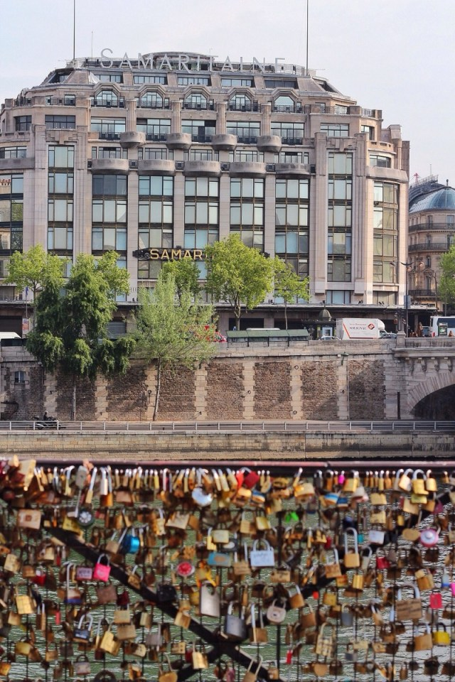 paris, france, locks, bridge