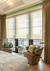 Crestron Controlled Shades Sheers and Drapes