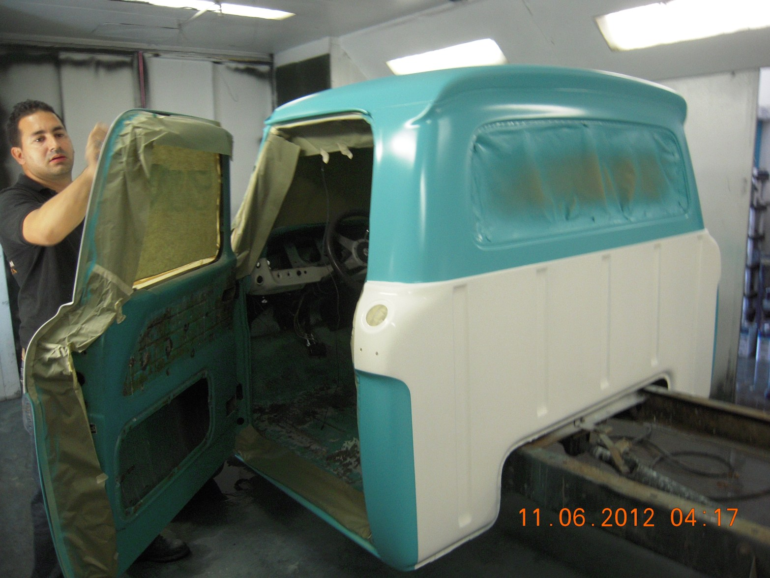 west-coast-body-and-paint-1966-ford-f100-green-white-40