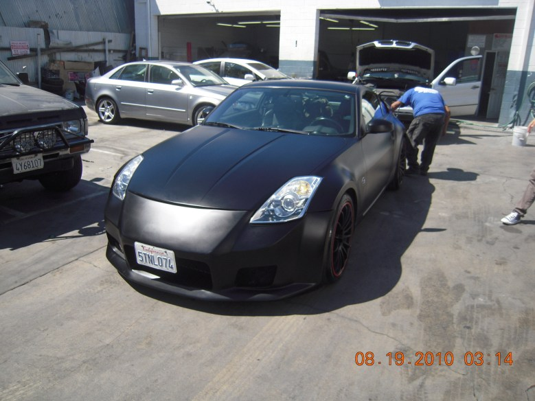 West-Coast-Body-And-Paint-Flat-Black-Nissan-350Z (14)