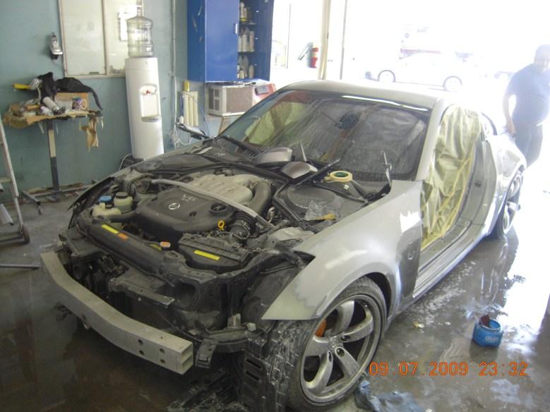 West-Coast-Body-And-Paint-Flat-Black-Nissan-350Z (3)