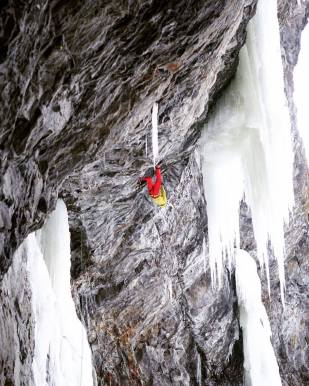 Tim Emmett on first ascent of Fireball 101, M10 (Adam Tutte)
