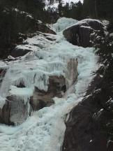 Close-up of the open, flowing section, which has been reported to be spitting chunks of ice (Drew Charness)