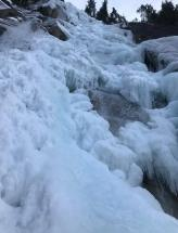 Picture of Shannon Falls from the base, on Sunday. Deemed to warm to take screws (Jonah Adelman)