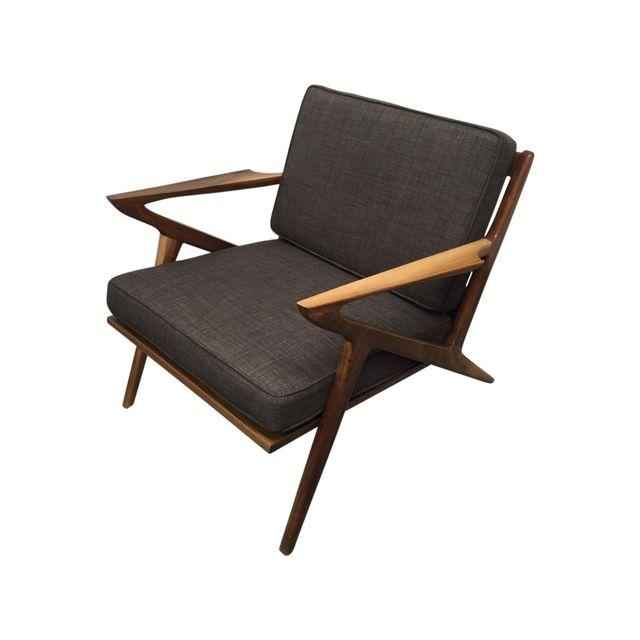 z chair mid century hanging egg jysk walnut west coast modern la