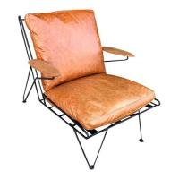 CUSTOM WROUGHT IRON LOUNGE CHAIR (LEATHER UPGRADE) | West ...