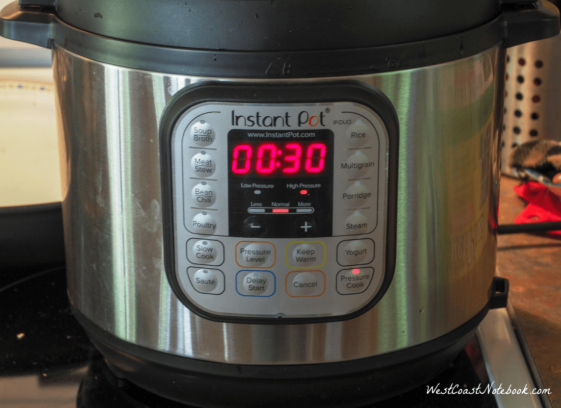 Set time on Instant Pot