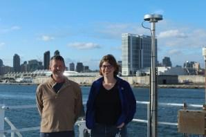 Chief Scientist - Leg 1: Simone Alin (with her co-chief Dana Greeley). Photo credit: Emma Hodgson