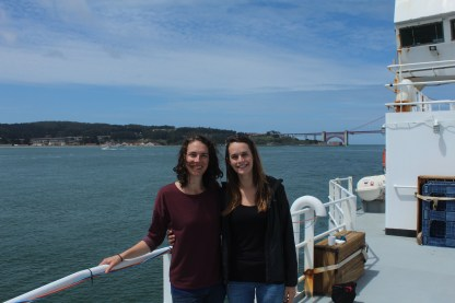 Emma Hodgson and Melissa Ward at the end of their stint as blog coordinators.