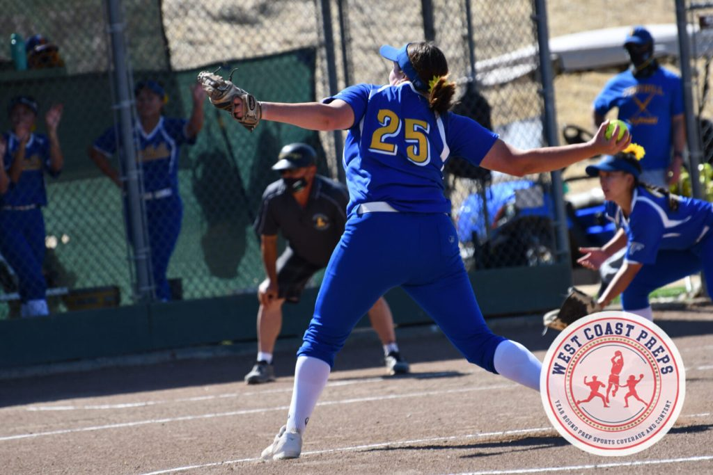 Maddie Heinlin tossed a complete game shutout in Foothill's 5-0 win versus Livermore. Chris Jackson / Staff Photo