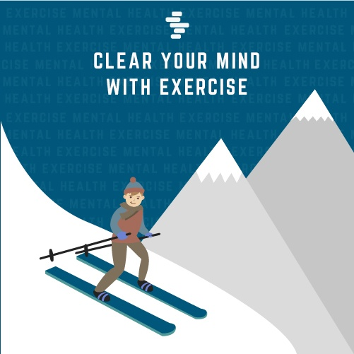 Clear your mind with exercise
