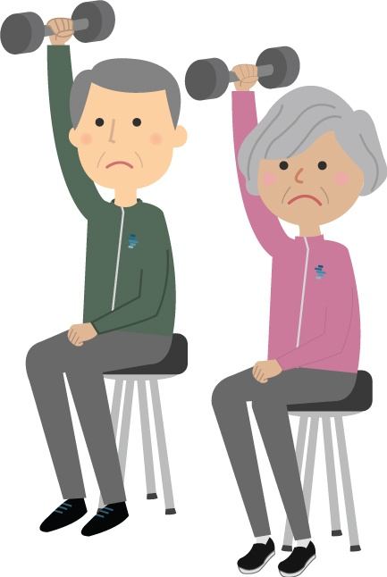 Sad Uncomfortable Elderly People Exercising Myth