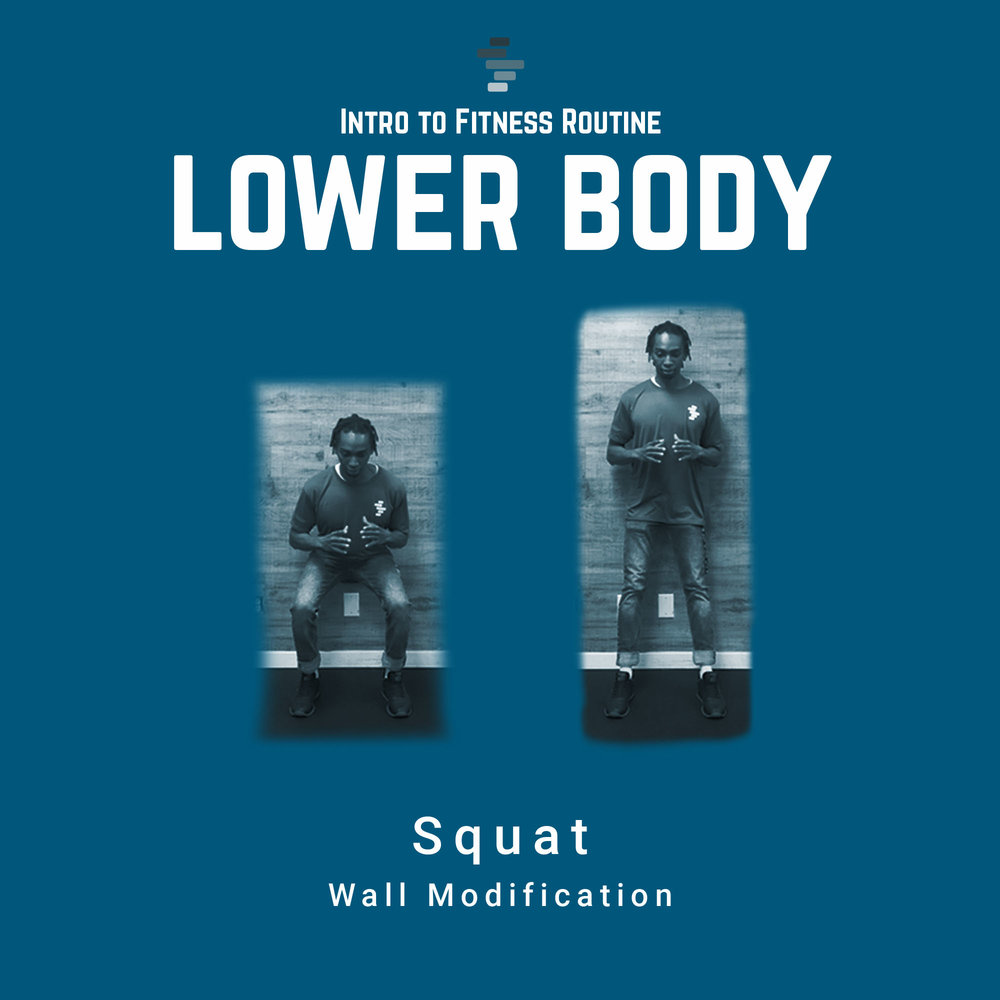 Squat with Wall Modification