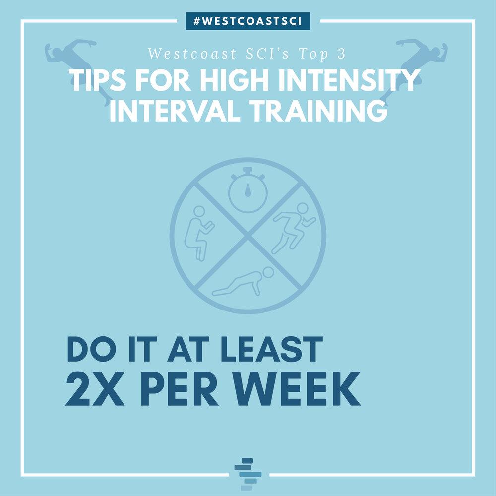 Do it at least 2x per week